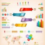 Set of Info graphics elements. Vector illustration — Stock Vector