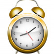 Yellow alarm clock. Vector — Vecteur