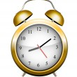 Yellow alarm clock. Vector — Stockvector