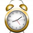 Yellow alarm clock. Vector — Stok Vektör