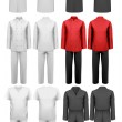 Set of various work clothes. Vector illustration — Stock Vector #42884179