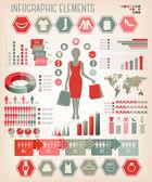 Shopping infographics. Vector. — Stock Vector