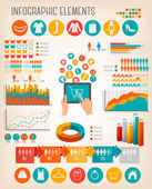 Big set of Shopping infographics elements. Vector. — Stock Vector