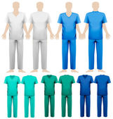 Set of medical overalls. Design template. Vector illustration.  — Stockvector