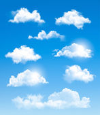 Set of transparent different clouds. Vector.  — Stock vektor
