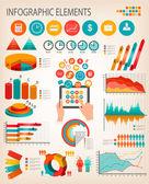 Modello di business infografica. vector. — Vettoriale Stock