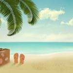 Retro summer vacation background. Vector — Stock Vector #45192763
