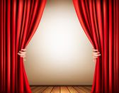 Background with a stage and a curtain. Vector. — Stock Vector