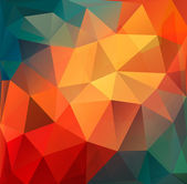 Colorful Polygon abstract background. Vector. — Stock Vector