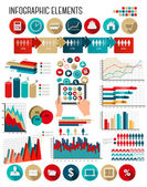 Business infographics template. Vector.  — Stock Vector
