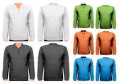T-shirts hommes colorés. modèle de conception. vector. — Vecteur