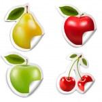 Set of flat fruit stickers. Vector. — Stock Vector #48649797