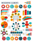Big set of Education infographics elements. Vector.  — Vettoriale Stock
