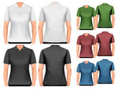Female polo shirts. Design template. Vector.  — Vector de stock