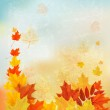 Autumn background with colorful leaves. Back to school Vector il — Stock Vector