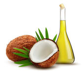 Coconut with oil. Vector.  — Stock Vector