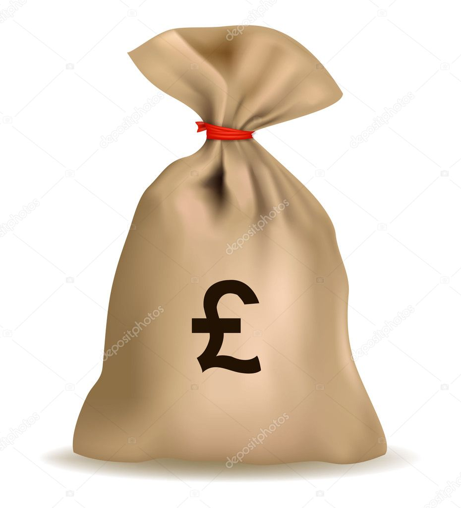 Money Bags Vector Money bag with pound. vector.