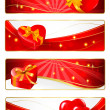 Set of holiday banners. Vector illustration. — Stock Vector #8423425