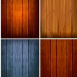 Set of wood backgrounds. Vector illustration — Stock Vector #9010966