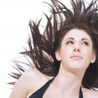 Beautiful woman with windblown hair — Stock Photo #14083922