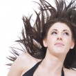 Beautiful womwith windblown hair — Stock Photo #14083922