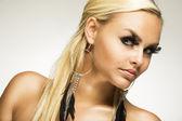 Beautiful glamorous woman with false eyelashes — Stock Photo