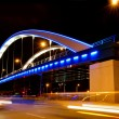 Basarab bridge in the night, Bucharest, Romania — Stock Photo