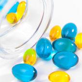 Kolorowe tabletki, kapsułki — Zdjęcie stockowe