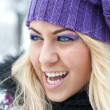 Young woman outdoor in winter — Stock Photo #13195918
