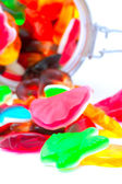 Bunte bonbons im glas — Stockfoto