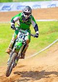 BUCHAREST, ROMANIA - MAY 14: Unidentified rider participates in — Foto de Stock