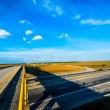 Above view of a empty highway — Stock Photo