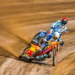 Stock Photo: Unidentified rider participate at EuropeChampionship of Dirt Track