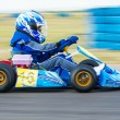 Stock Photo: Unknown pilot competing in National Karting Championship 2012