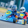 Pilots competing in National Karting Championship 2012 - Stock Photo