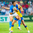 Rugby players during Romania vs Emerging Italy — Stock Photo