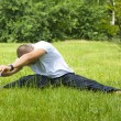Young man doing his streches — Stock Photo #13705751