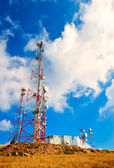 A communications tower — Foto Stock