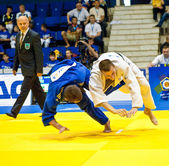 Contestants participate in the Judo World Cup Men — Stock Photo