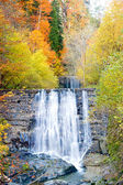 Waterfall Autumn — Stock Photo