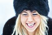 Mujeres invierno cerca retrato — Foto de Stock