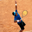 Tennis player in action during BRD Nastase Tiriac Trophy - Stock Photo