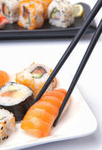 Traditional Japanese food Sushi — Stock Photo
