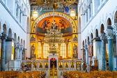 Greek orthodox church interior, Saint Dimitrios of Thessaloniki — Stock Photo