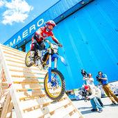 Graham Jarvis stunt rider — Stock Photo