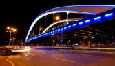 Basarab bridge in the night, Bucharest, Romania — Stock Photo