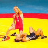 初中摔跤世界冠军 — 图库照片