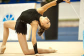 Gymnast performs during the Irina Deleanu Orange Trophy — Stock Photo