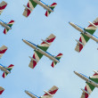 Italian demoteam Frecce Tricolori at Bucharest airshow - Stock Photo