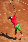 Tennis player in action during BRD Nastase Tiriac Trophy — Stock Photo